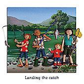 Holy Mackerel Landing the catch Greetings Card