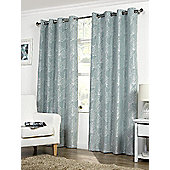 Hamilton McBride Palma Lined Eyelet Duck Egg Curtains - 66x90 Inches (168x229cm)
