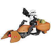 Star Wars Galaxy Heroes Scout Trooper Figure with Speeder Bike