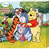 Winnie The Pooh Walt Disney's All The Gang Together Canvas Print