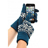 Touch Screen Gloves Fairisle Navy