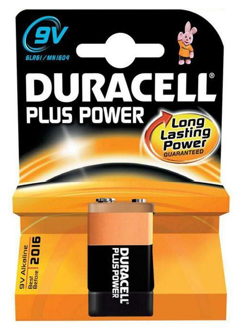 Duracell MN1604B1 Plus 9V Alkaline Batteries