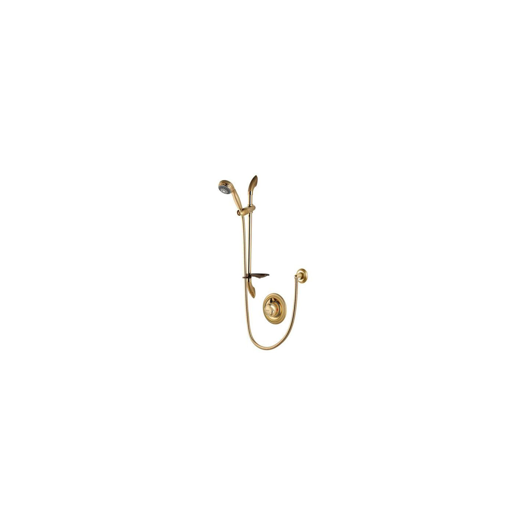 Aqualisa Aquavalve 609 Concealed Shower Valve with Adjustable Shower Head Gold at Tesco Direct