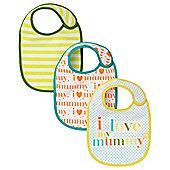 B Newborn's I Love Mummy Bibs - 3 Pack