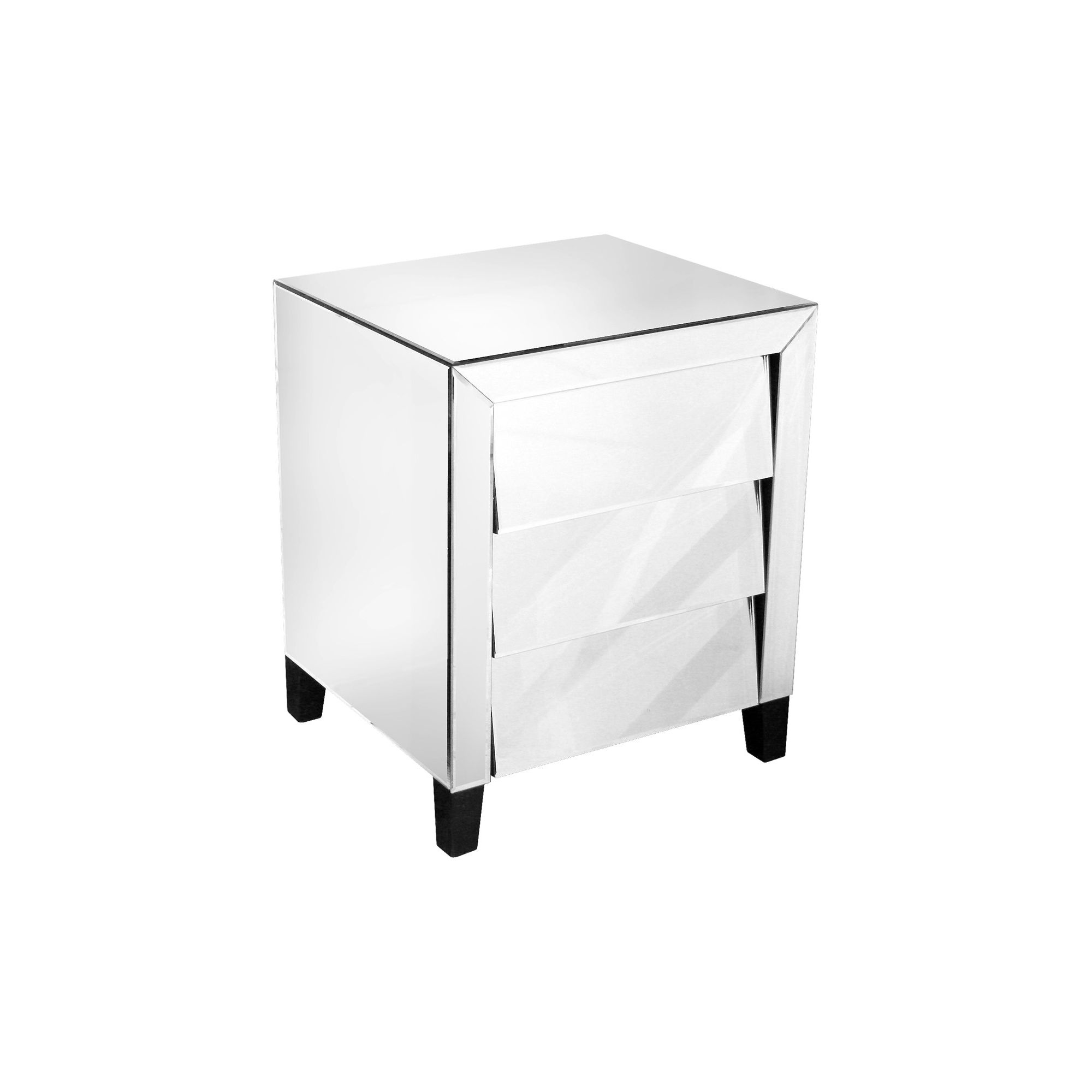 Home Essence Mirrored Bedside Table at Tesco Direct