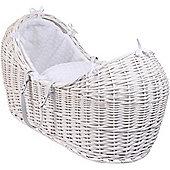 Clair de Lune White Noah Pod Moses Basket (Marshmallow White)