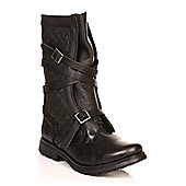 Steve Madden Womens Black BountyLeather Boots - Black