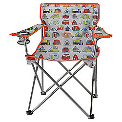 Tesco Folding Camping Chair, Festival Theme