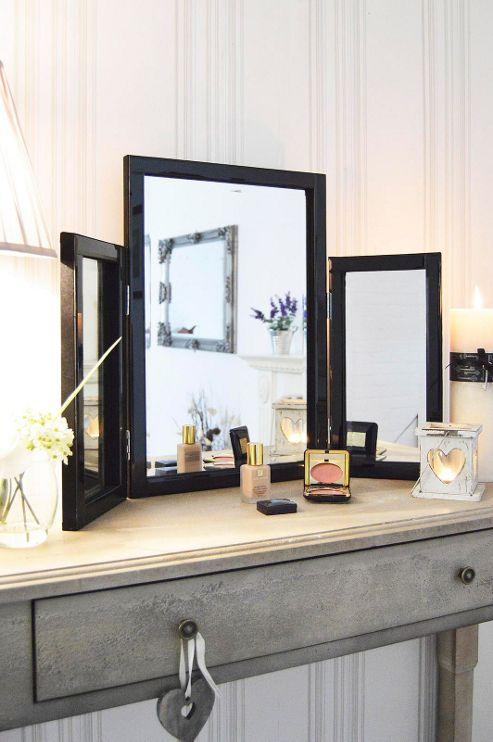 Buy modern black glass venetian dressing table mirror 1ft10 x 2ft7 54cm x 77cm from our - Modern black dressing table ...