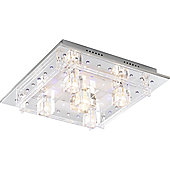 Home Essence Zenith 5 Light Semi-Flush Ceiling Light in Chrome