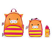 Skip Hop Zoo Pack, Lunch Bag and Straw Bottle Set Cat
