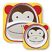 Skip Hop Zoo Tabletop Plate & Bowl Set - Monkey