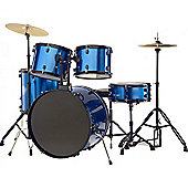 Rocket 5 Piece 22in Drum Kit in Blue