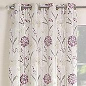 Julian Charles Santorini Lilac Luxury Jacquard Eyelet Curtain -168x137cm