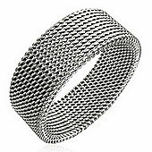 Urban Male Stainless Steel Mesh Design 8mm Ring For Men
