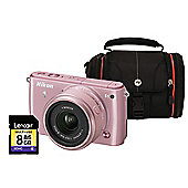 Nikon 1 S1 Pink Camera Kit inc 11-27.5mm Lens, 8GB SD Card and Case