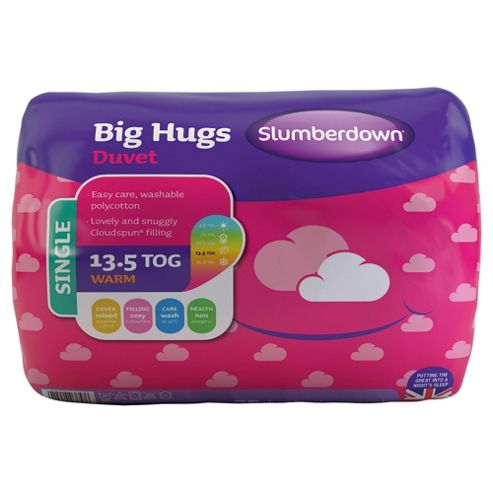 Slumberdown Single Duvet 13.5 Tog - Big Hugs