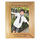 Personalised First Day at School 5x7 Wooden Photo Frame