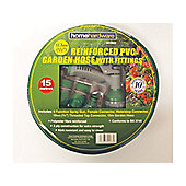 Home Gardener Reinforced Green Hose 15M+Fittings/Spray