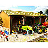 Brushwood Bbb160 Open Barn - 4 Bays Big Basics - 1:32 Farm Toys