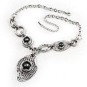 Unique Vintage Hammered Necklace (Black)
