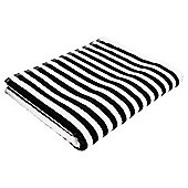 Tesco Black & White Stripe Bath Towel