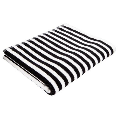 Buy Tesco Black White Stripe Bath Towel From Our Bath Towels Range Tesco