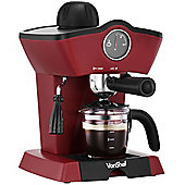VonShef 4 Bar Espresso Coffee Maker Machine - Make Espressos, Lattes & Cappuccinos