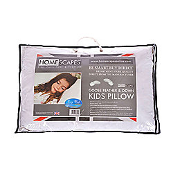 Homescapes Kids Goose Feather & Down 40 x 60 cm Toddler Pillow