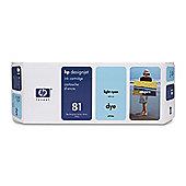 HP 81 Dye Ink Cartridge -Cyan