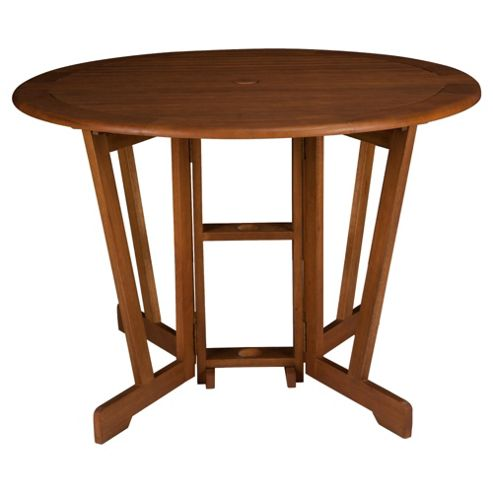 Windsor Wooden Round Garden Gateleg Table - 110cm