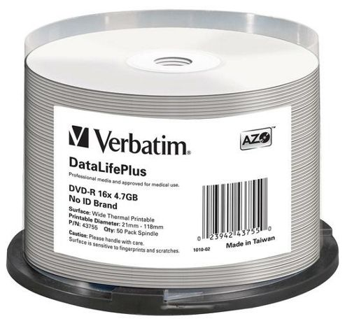 Verbatim DVD-R 4.7GB 16x 50 Pack