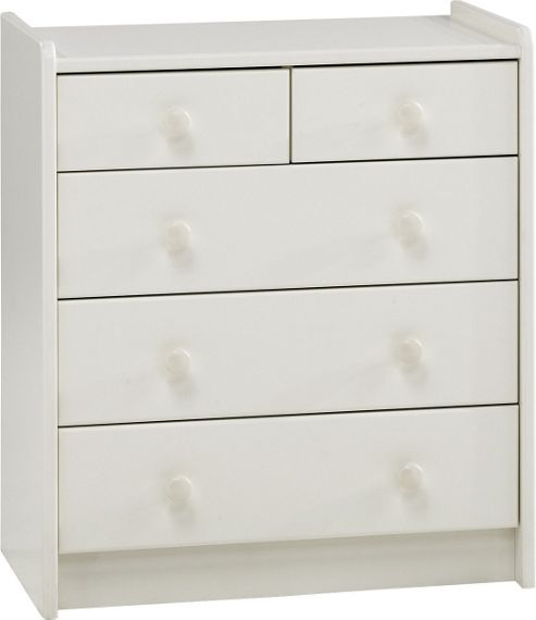 Home Essence Kids Two Over Three Chest of Drawers in White
