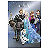 Disney Frozen Metallic Elsa, Anna and Olaf Group Print, 67x47cm