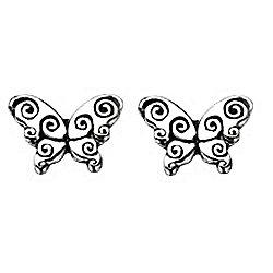 Girl's Silver Butterfly Earrings