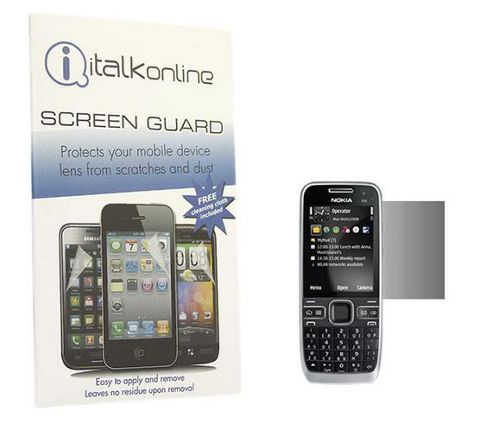 S-Protect LCD Screen Protector & Micro Fibre Cleaning Cloth - Nokia E55