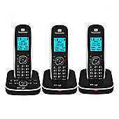 British Telecom 5510-TRIO Cordless Triple Telephone with Answer Machine in Black