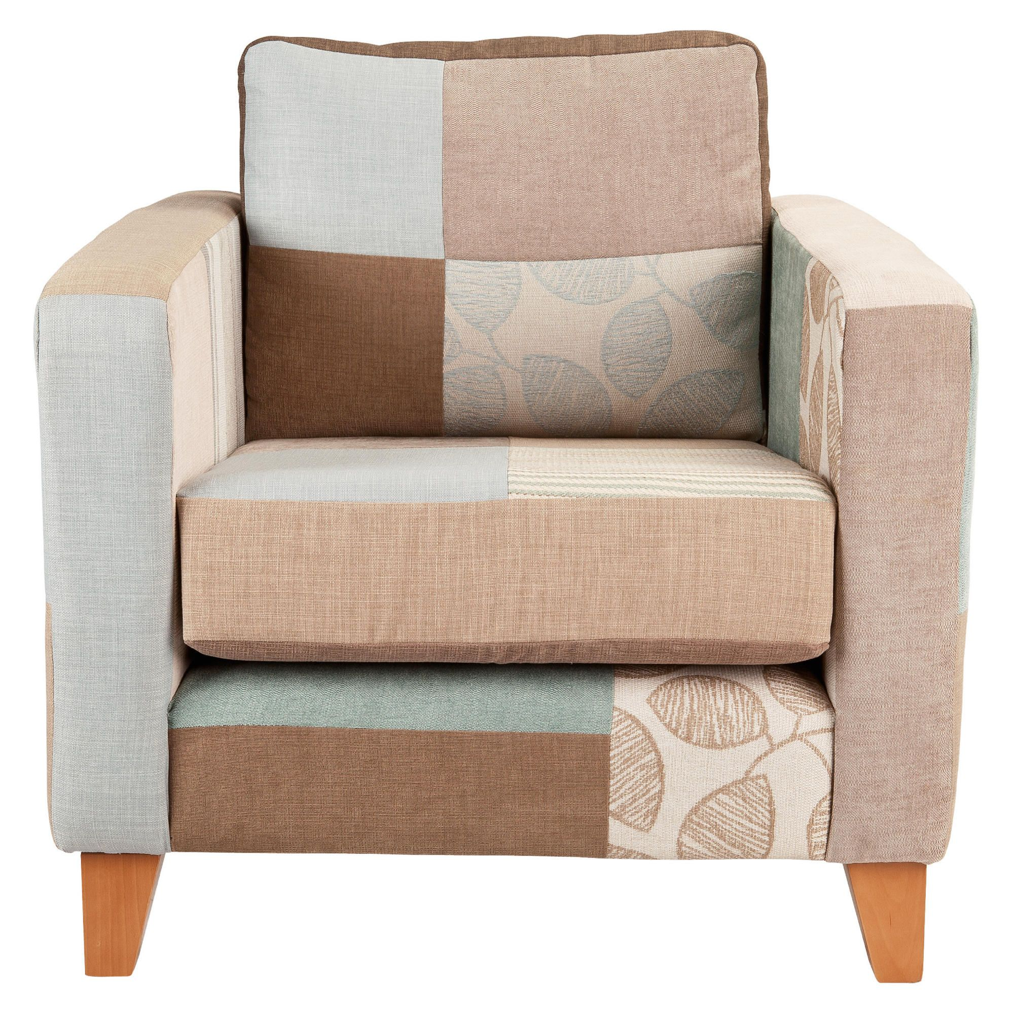 Patchwork chair natural at Tesco Direct