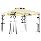 Bentley Garden 3m x 3m Steel Art Gazebo With Beige Canopy
