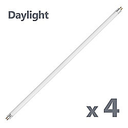 Pack of 4 Replacement T5 18W Fluorescent Tubes in Daylight