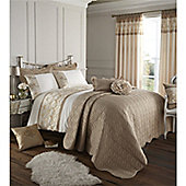 Catherine Lansfield Home Signature Gold Charlston Super King Size Quilt Set