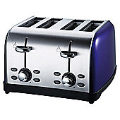 Tesco 4 Slice SS colour Toaster - Purple