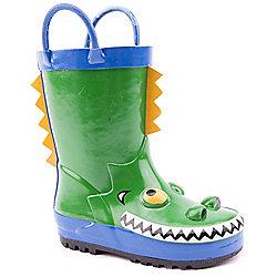 Pre-School Boys Brantano Croc Green Wellington Boots