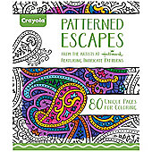 Crayola Adult Colouring Patterned Escapes Colouring Book