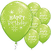 11' Birthday Sparkle Lime Green (25pk)
