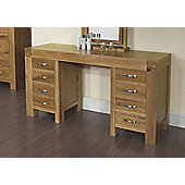 Rustic Grange Santana Blonde Oak Desk/Dressing Table
