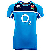 Canterbury England RFU Junior Poly Training Tee 6 Nations 2016 - Vivid Blue - Blue