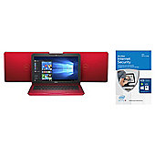 Dell 11-3162 Cel Red 2GB 32GB Laptop & McAfee Internet Security 2016 Unlimited Devices bundle.