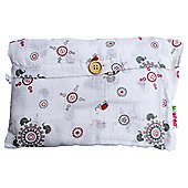Minene UK Ltd Supersize Muslin GreyRed Elephant