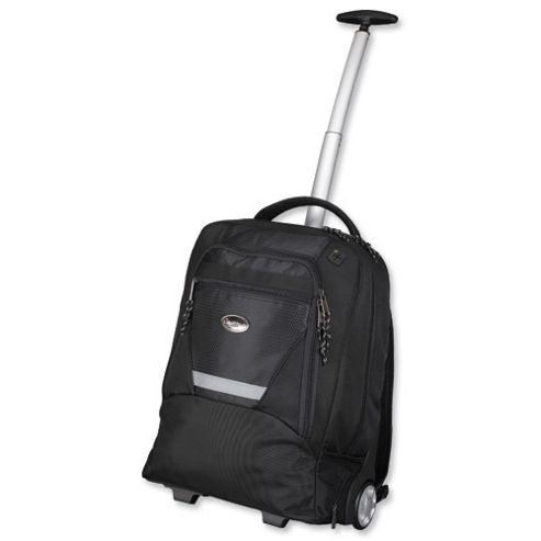 Lightpak Master Laptop Backpack with Trolley, Black